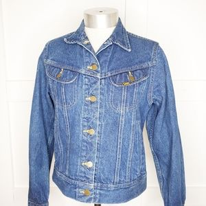 Vtg Women's Lee  Blue Jean Trucker Jacket Small